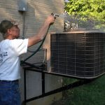 Central air conditioning should be serviced early spring to lower energy cost, peak efficiency, and dependability